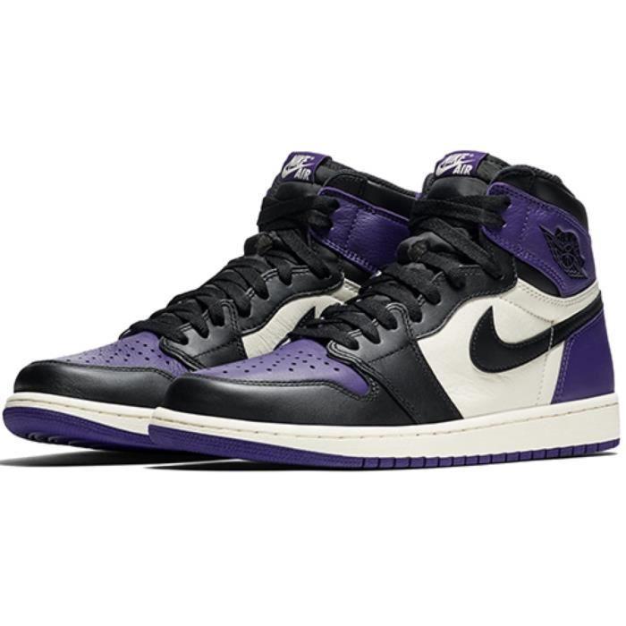 Basket Air Jordan 1 Retro High Court Purple-555088-501-Chaussures ...