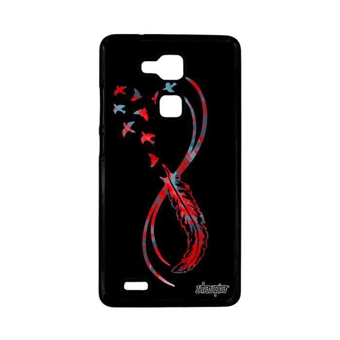Coque Huawei Ascend Mate 7 infini couleur 4G antichoc noir MT7-L09 ...