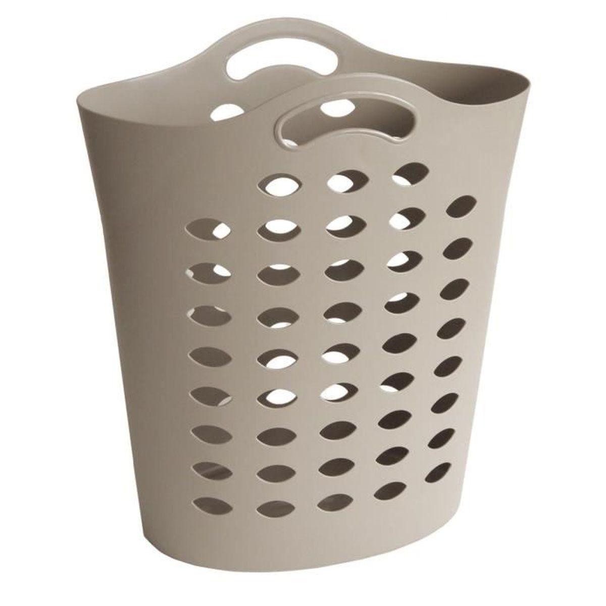 PANIER A LINGE Flexy Bag 55 L Taupe