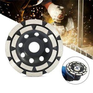 pierre granit 2 rang/ées diamant/és Disque diamant 125-180mm /à meuler le b/éton meule abrasive /à poncer b/éton 150mm, noir