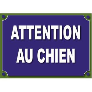 attention au chien 100x70mm en pvc achat vente plaque signal tique attention au chien. Black Bedroom Furniture Sets. Home Design Ideas