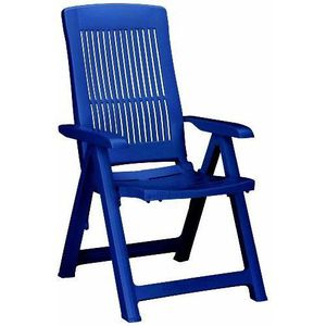 FAUTEUIL JARDIN  BEST Santiago Fauteuil de jardin pliant bleu