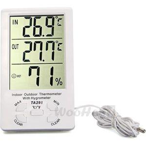 THERMOMÈTRE - BAROMÈTRE LCD Thermomètre Hygromètre Numérique Horloge Teste