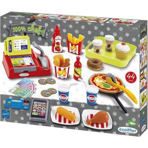 MARCHANDE ECOIFFIER jouets CHEF Accessoires Fast Food 2595