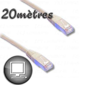 CÂBLE RÉSEAU  Câble RJ45 cat.6 blindé FTP 20m