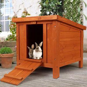 CLAPIER Clapier pour lapins et rongeurs en bois avec porte