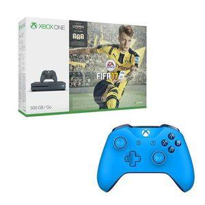 CONSOLE XBOX ONE Console Xbox One S 500 Go Storm Grey + Fifa 17 + S