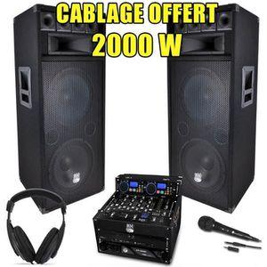PACK SONO PACK SONO DJ Complet 2000W Ampli Lecteur CD IBIZA