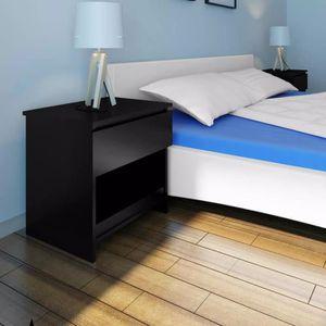 CHEVET 2 pcs Table de chevet avec 1 tiroir ContemporainT