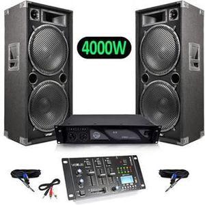 PACK SONO Pack Sono Enceintes 4000W MAX215 + Vexus STM3030 T