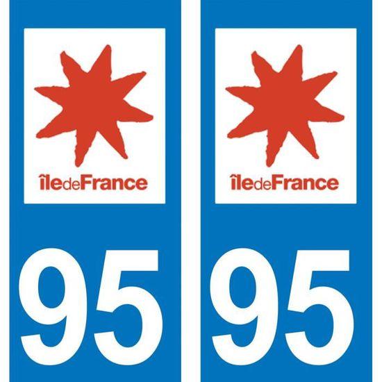 STICKER AUTO 75 ILE DE FRANCE DEPARTEMENT IMMATRICULATION 2 X AUTOCOLLANTS