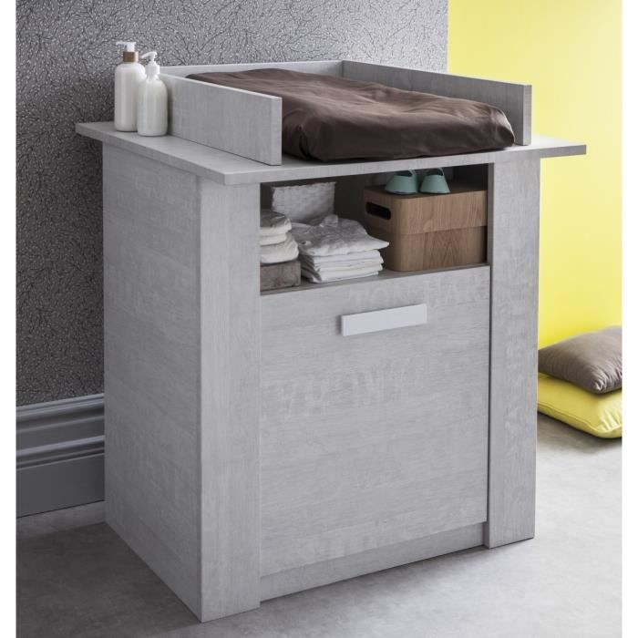 cherubin commode table a langer coloris ch ne bristol gris achat vente table langer. Black Bedroom Furniture Sets. Home Design Ideas