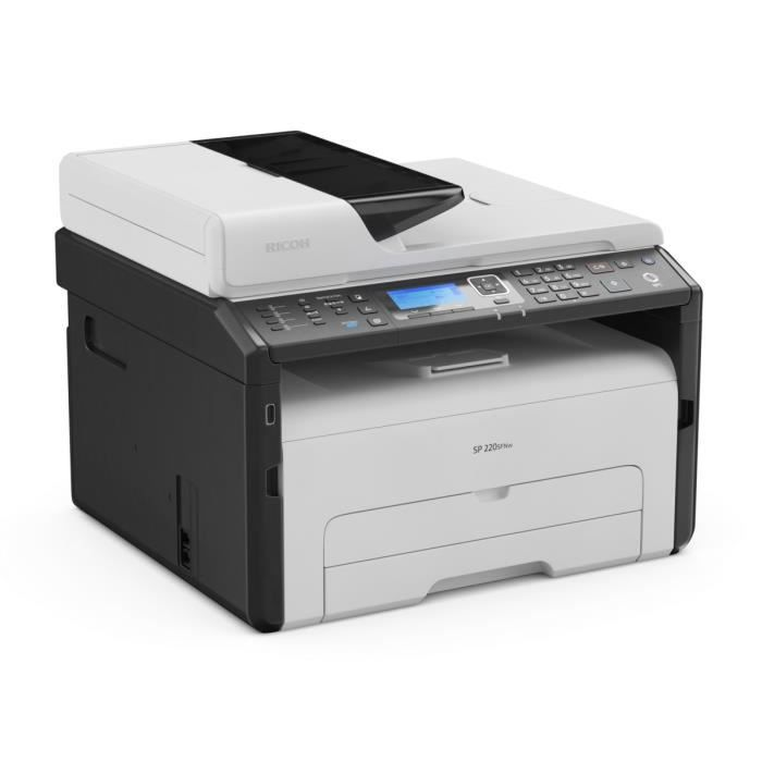 Ricoh Imprimante multifonction 3 en 1 SP 220SFNw - Laser - Monochrome - USB / Ethernet / Wifi - A4 / A6