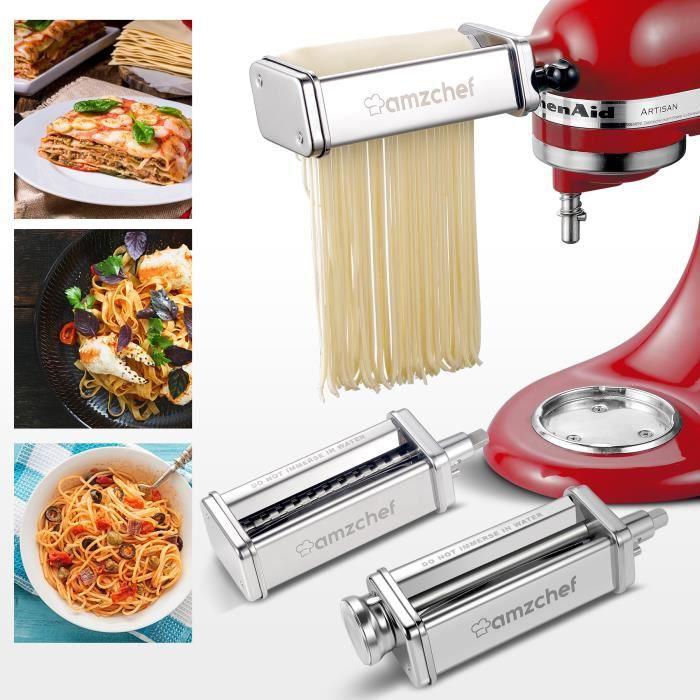 Pour les accessoires KitchenAid, machine à pâtes AMZCHEF 3 en 1