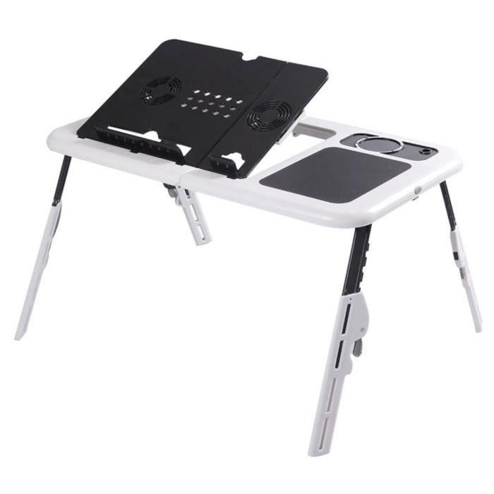 Table de lit et Support Ordinateur portable Ajustable, Stand Bureau Portable, Plateau Pliable de Petit Déjeuner au Canapé