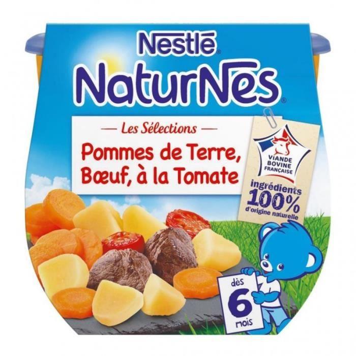 Nestlé Naturnes Les Sélections Pommes de Terre Boeuf à la Tomate (dès 6 mois) par 2 pots de 200g (lo