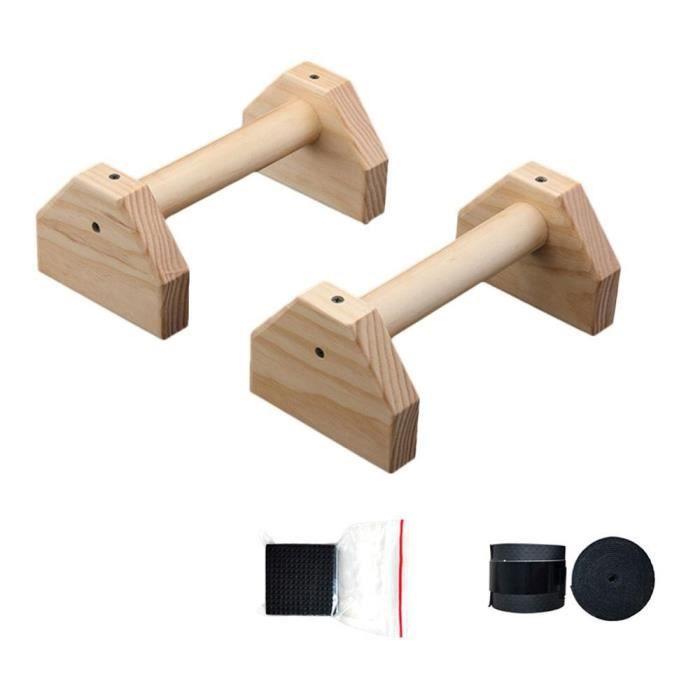 barre pour traction -Supports de poussée en bois barres Fitness gymnastique à domicile exercice ...- Modèle: Beige - ZOAMFWZDA07987