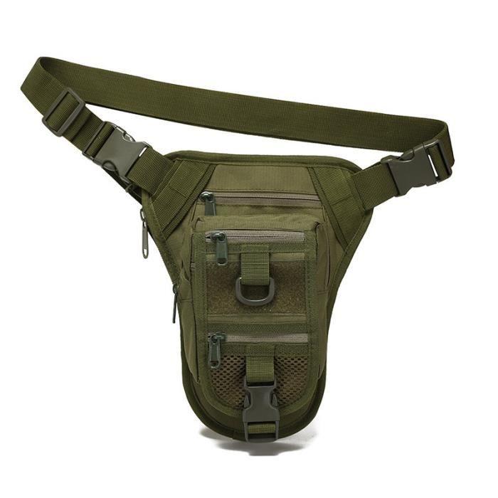 green -Sac de ceinture multifonctionnel pour randonnée et chasse, sacoche tactique militaire, pour jambe, outil de chasse, sac de sp