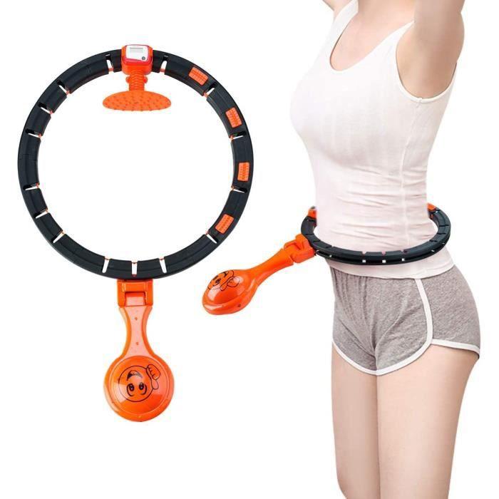 Cerceau de Hula Cerceau rotatif intelligent et mobile avec comptage automatique, brûleur de graisse pour perte de poids, taille fine