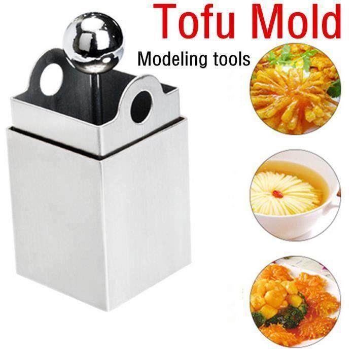 Moule à gâteau Tofu en acier inoxydable moule de tofu râpé créatif cuisine outils argent Ustensiles de cuisine-0781