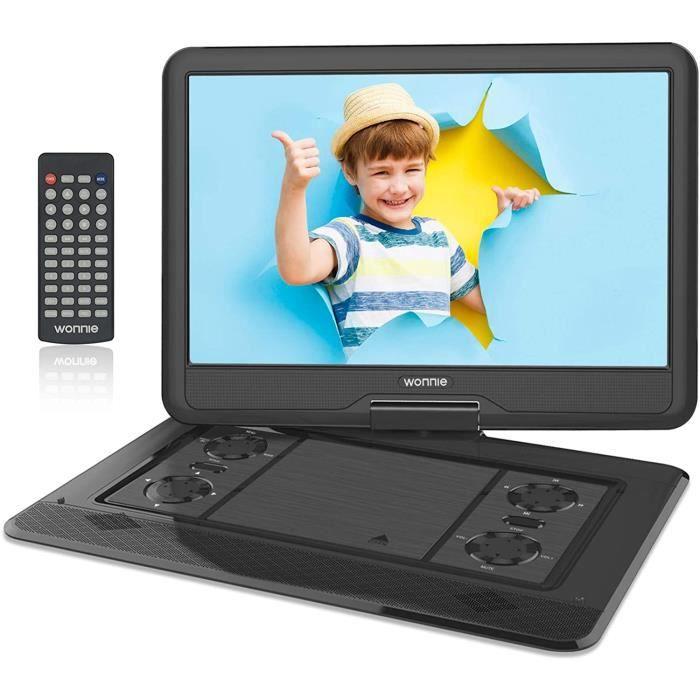 LECTEUR DVD PORTABLE WONNIE 17,5'' Lecteur DVD Portable avec &eacutecran de Rotation de 15,6 Pouces 1366x768 HD, Batterie 56039