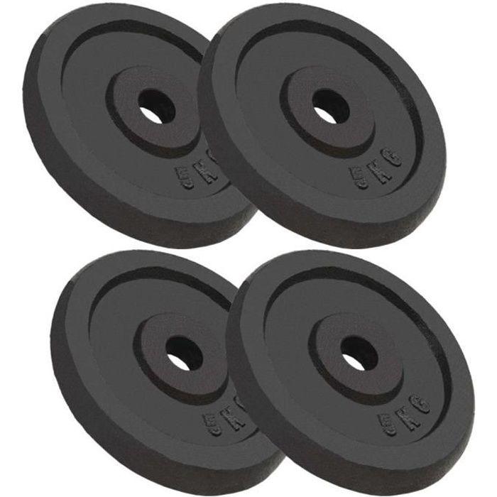 Regisi Meelady 4 pcs Plaque de Poids Disques Haltères en Fonte 20 kg pour Musculation
