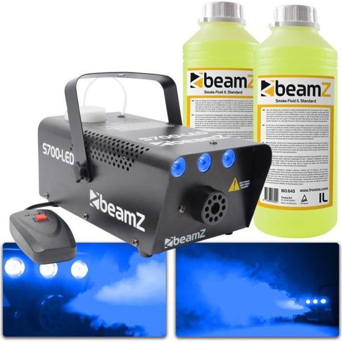 Beamz S700 machine à brouillard effet glace avec 2L de liquide