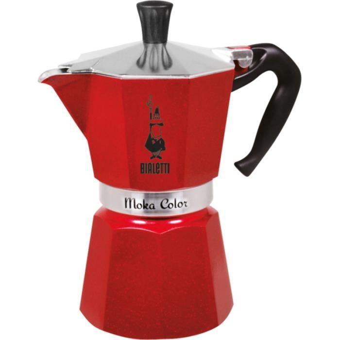 Cafetière italienne Bialetti MOKA EXPRESS EMOTION ROUGE 6 TASSES