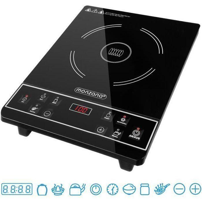 Plaque à induction 2000W, 6 programmes plaque chauffante cuisson écran tactile