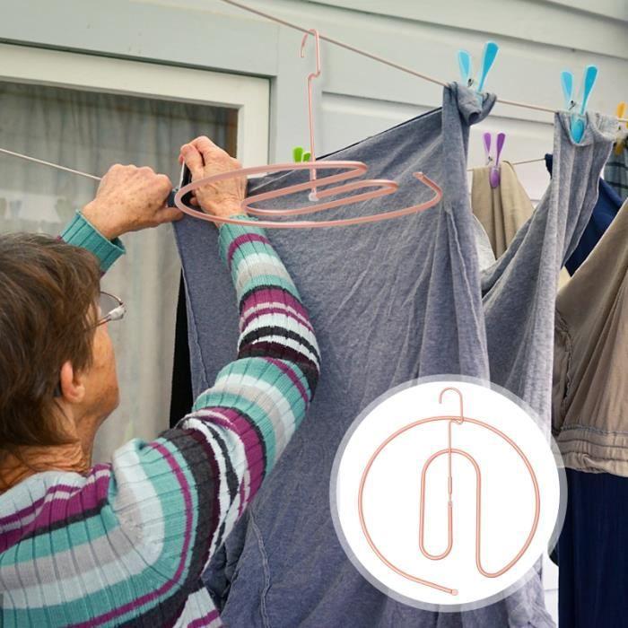 Alliage à coupe-vent 1pc Anti-Lost Hanger Team fil a linge - tancarville - etendoir - sac de sechage materiel soin du linge