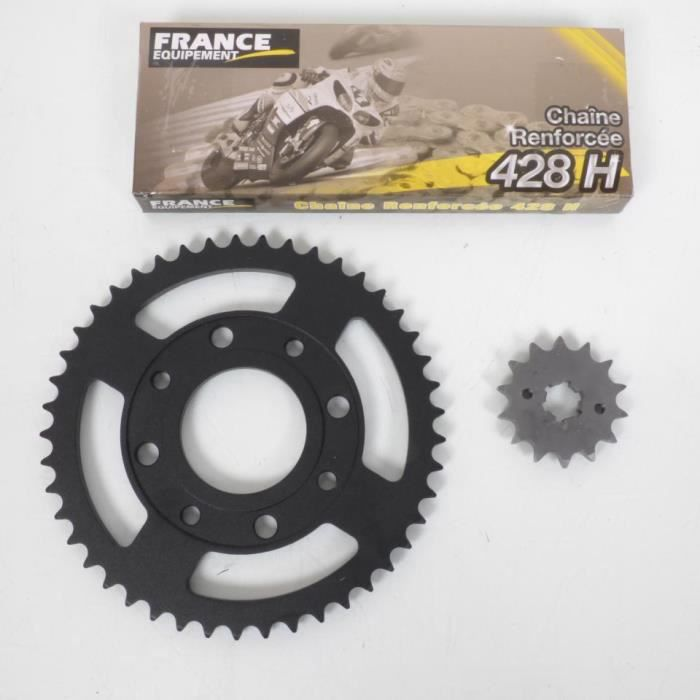 Kit chaîne France Equipement moto Daelim 125 Daystar 2008 à 2012 45x14x428H Neuf