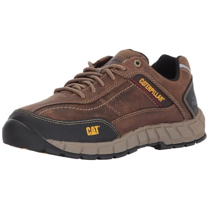 CATERPILLAR Hommes Streamline en cuir - beige foncé chaussure de travail TGQBB Taille-39 1-2