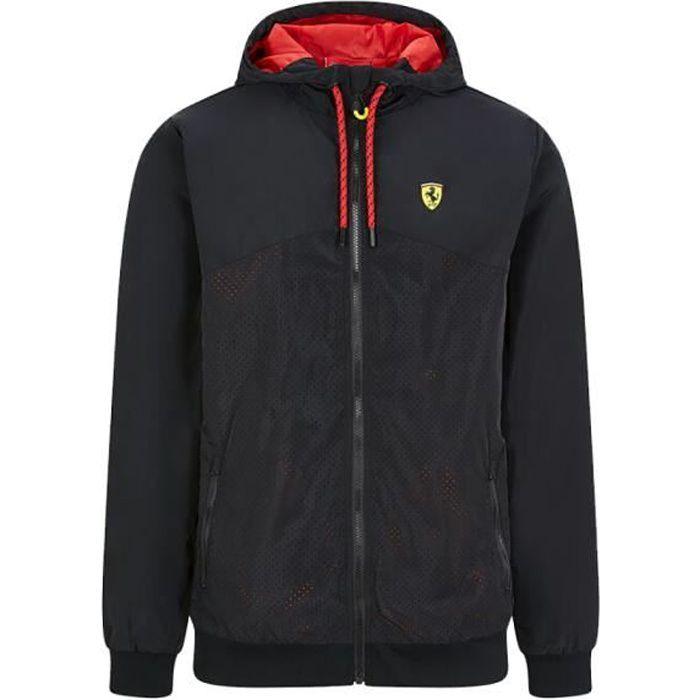 Veste a Capuche Zip Ferrari Scuderia Team Motorsport F1 Officiel Formule 1