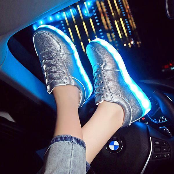 7ipupas enfants chaussure lumineuse Garçons filles Sport chaussure de course bébé lumières lumineuses mode baskets enfant en bas ag