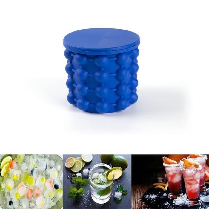 SEAU A GLACONS-Silicone plastic ice bucket