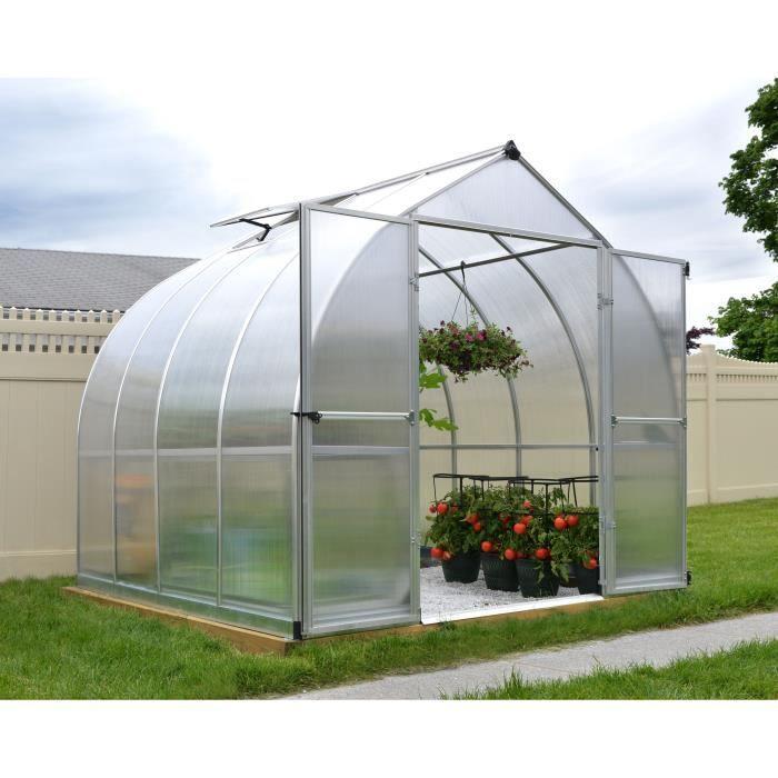 PALRAM Serre de jardin Bella 5,7 m² - Aluminium et polycarbonate - Double parois