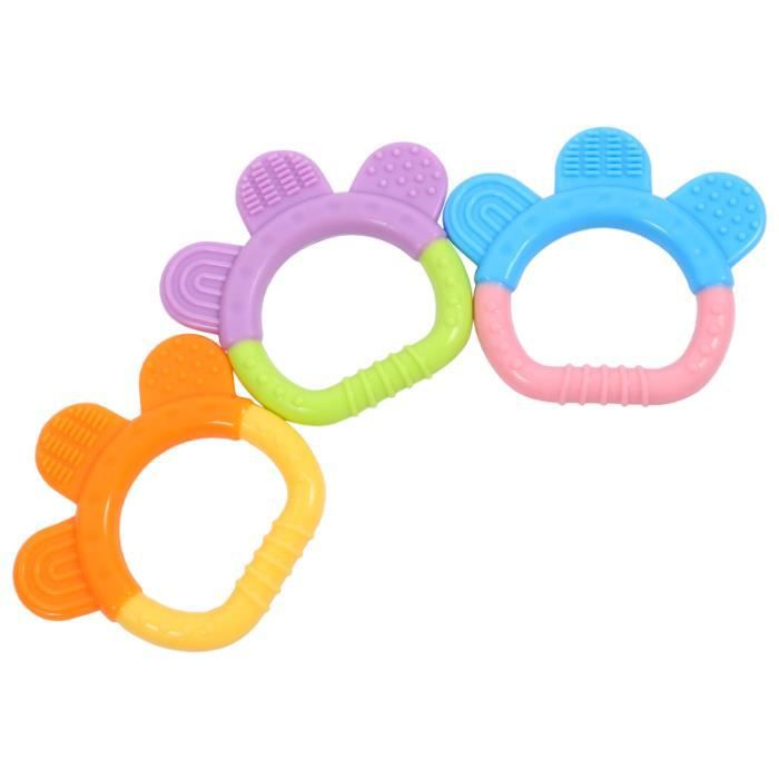 3pcs silicone bébé dentition doux rongeurs grinder jouet cadeau de douche TETINE