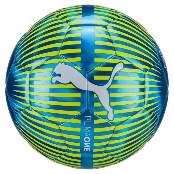 Ballon Puma One Chrome - bleu vif-blanc-jaune fluo - Taille 5