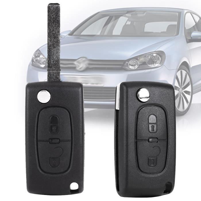 CLE PLIP TELECOMMANDE 2 Boutons Peugeot 107 207 307 308 SW 407 807 Partner Ex.