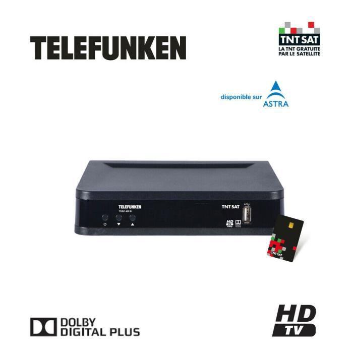 TELEFUNKEN TDSC 400 B DÉCODEUR SATELLITE TNTSAT HD (VENDU AVEC CARTE TNTSAT)