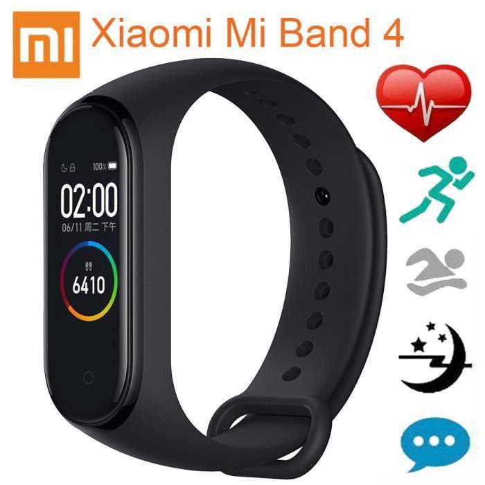 Xiaomi Mi Band 4 AMOLED Bracelet avec écran couleur BT5.0 Fitness Tracker Montre intelligente