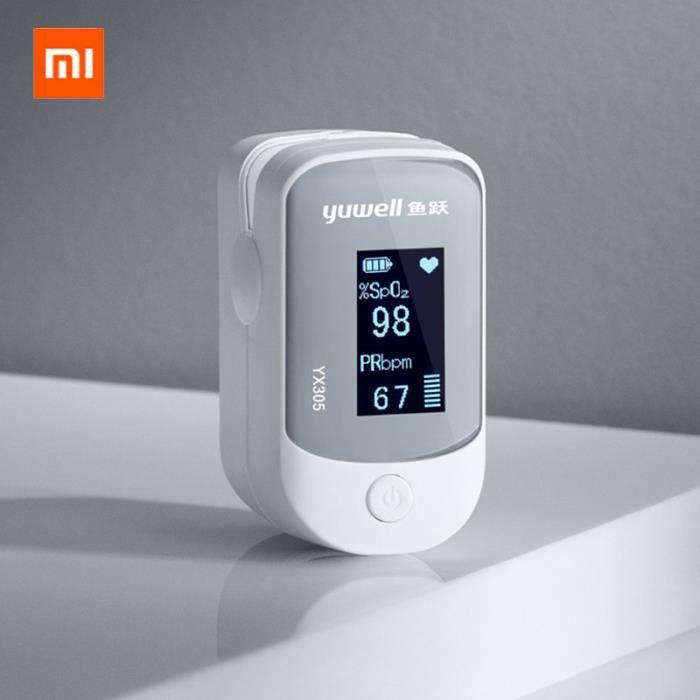 Xiaomi Yuwell YX305 Oxymèeàtre Écran OLED d'origine pour oxymètre de pouls digital Soins aux aînés pour la santé