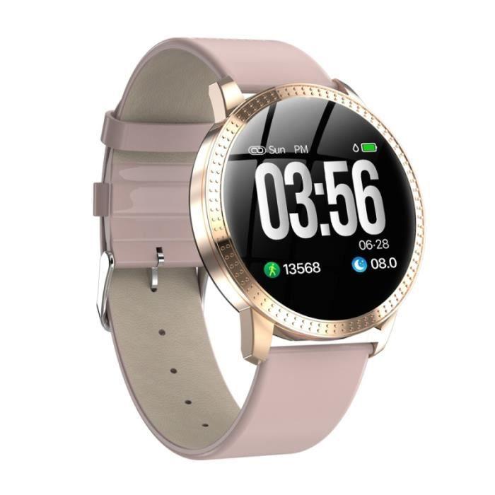 Montre Connectée iOS Android Smartwatch Sport Cardio Traqueur d'activité 1.3 Pouce - YONIS Rose