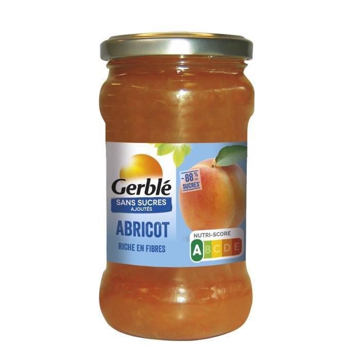 GERBLE Confiture à l'abricot sans sucres ajoutés - 320 g