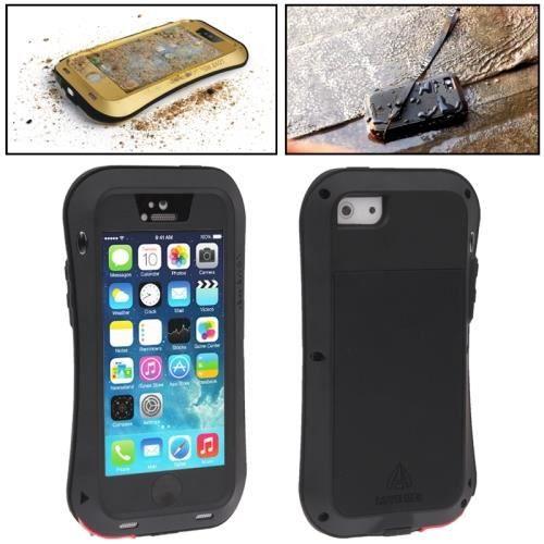 iphone 5 coque housse metal noir maxi protection l