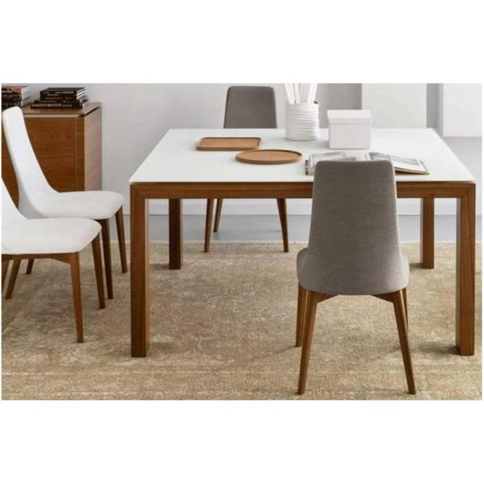 Table repas sigma glass 140x140 de calligaris en verre for Table 6 sigma