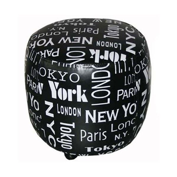 pouf design new york achat vente pouf poire cdiscount. Black Bedroom Furniture Sets. Home Design Ideas