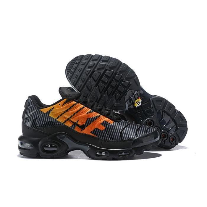 Nike Air Max Plus TN SE Homme Chaussures Noir et Orange Basket ...