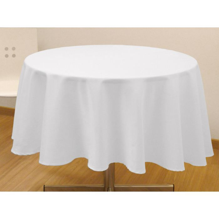 nappe ronde cosy blanc achat vente nappe de table cdiscount. Black Bedroom Furniture Sets. Home Design Ideas
