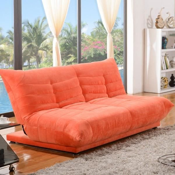 clic clac shamu design velours orange achat vente clic clac cuir synth tique bois panneaux. Black Bedroom Furniture Sets. Home Design Ideas